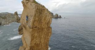 Escalada a la aguja de Liencres